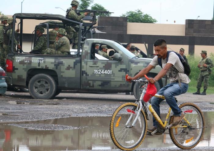 Elementos del Ejercito Mexicano realizan patrullajes en Ciudad Victoria, Tamaulipas. Foto: Cuartoscuro.