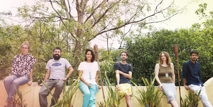 El grupo de expositores. Foto: Anne Beentjes