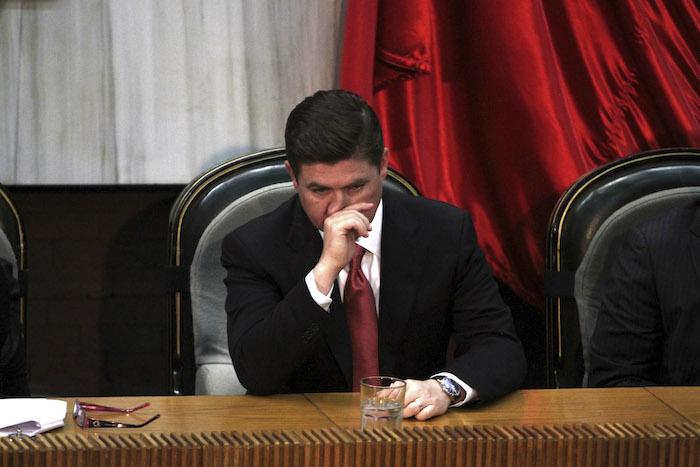 """El ex gobernador Rodrigo Medina se convirtió en el símbolo de la corrupción. Así funcionó durante seis años. Fue acumulando """"negocios"""" propios a través de ese delito tan practicado en México y tan poco castigado: el tráfico de influencias. Foto: Cuartoscuro"""