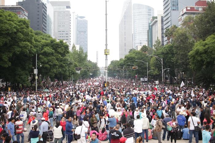La marcha apunto de partir. Foto: Francisco Cañedo, SinEmbargo.