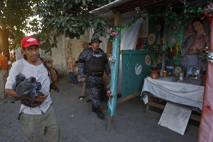 Operativo en campamento de migrantes en Jalisco. Foto: Cuartoscuro