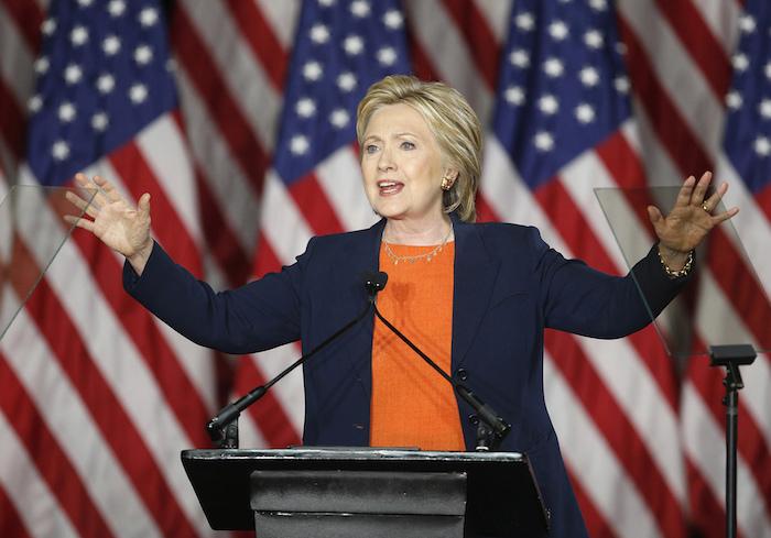 Hillary Clinton dio hoy un discurso sobre seguridad nacional en San Diego, California. Foto: AP