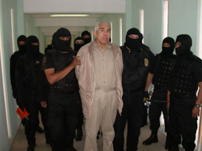 Caro Quintero durante su traslado en 2005 al Penal de Matamoros. Foto: