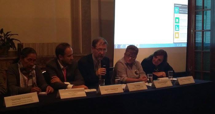 Jan Jarab, representante de la ONU en México, durante la presentación de la campaña No Olvidamos. Foto: Especial