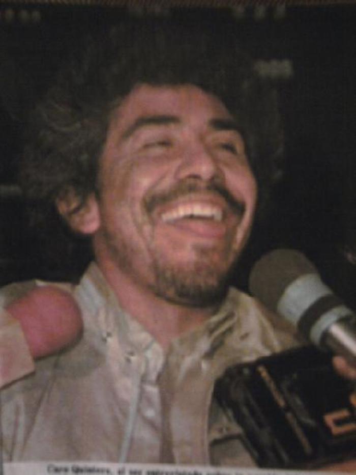 Rafael Caro QUintero se mostraba bromista y sonriente en las entrevistas. Foto: Tomada de video