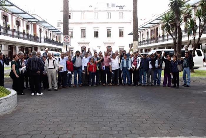 Arribo de la CNTe a la Segob. Foto: Valentina López, SinEmbargo.