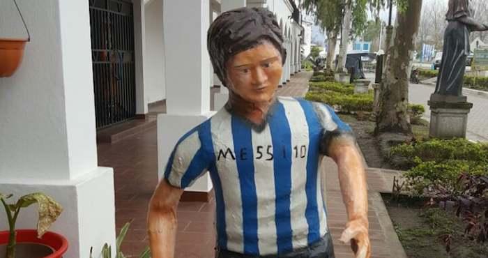 Escultura de Messi en pueblo de Argentina desata bromas en redes sociales