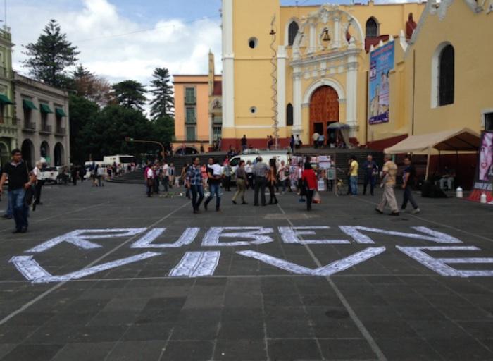 En Veracruz recuerdan el asesinato de Rubén Espinosa y Nadia Vera. Foto: Twitter vía @article19mex