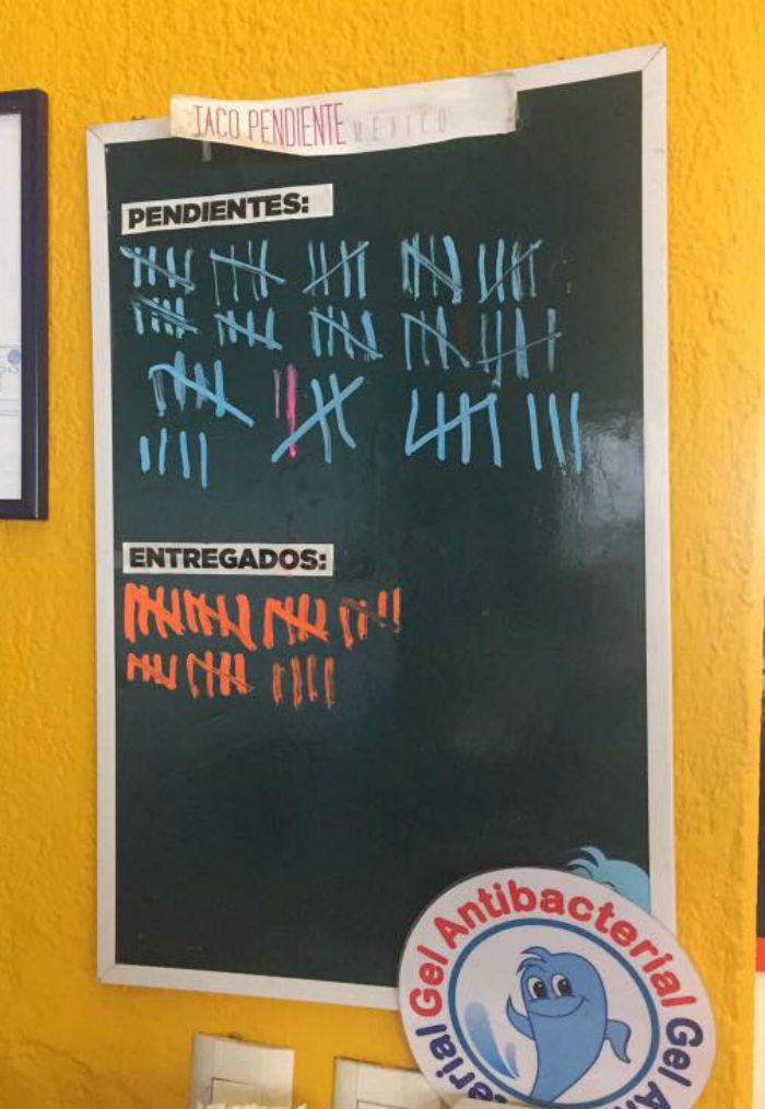 La iniciativa en El Pescadito de la Condesa, en la Ciudad de México. Foot: Facebook.