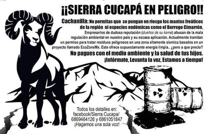 Imagen: Facebook, @Sierra.Cucapa