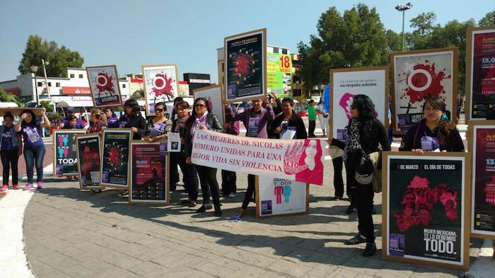 El pasado abril cientos de personas partieron de Ecatepec para protestar en contra de los feminicidios. Foto: Cuartoscuro
