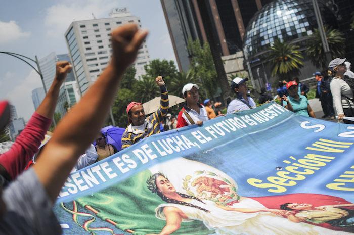 La CNTE ha fortalecido sus movilizaciones en los últimos dos meses. Foto: Cuartoscuro