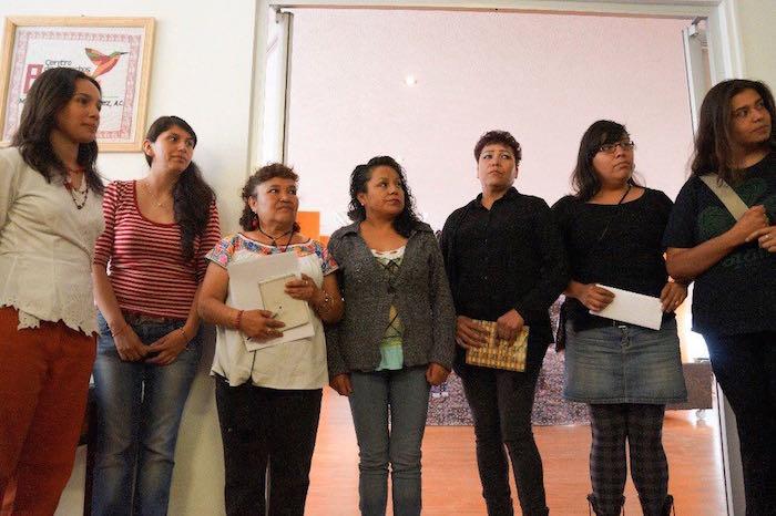 Algunas de las mujeres agredidas en el operativo por parte de la Policía del Edomex. Foto: Cuartoscuro