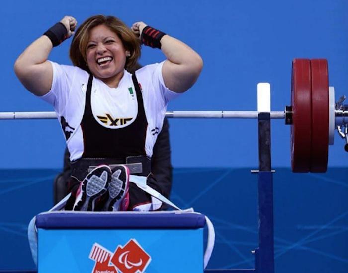 Amalia Pérez, medalla de oro en levantamiento de potencia. Foto: @CONADIS_MX