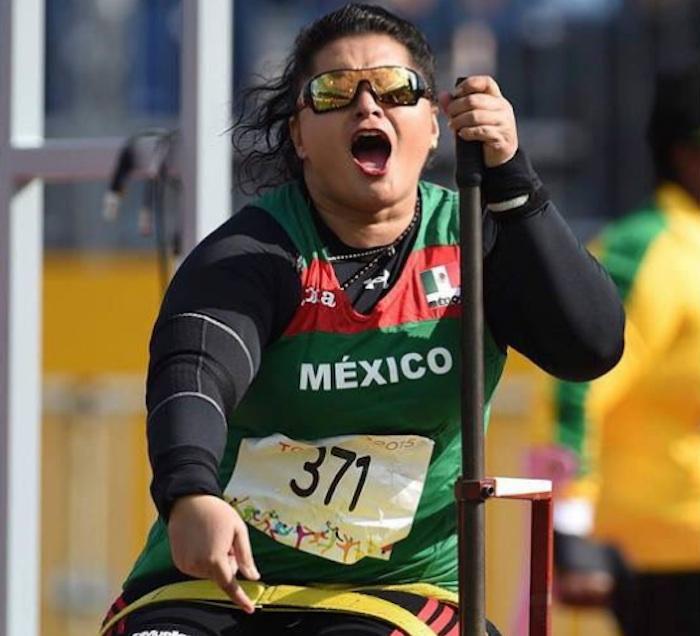 Ángeles Ortiz, medalla de oro en lanzamiento de bala. Foto: @CONADIS_MX