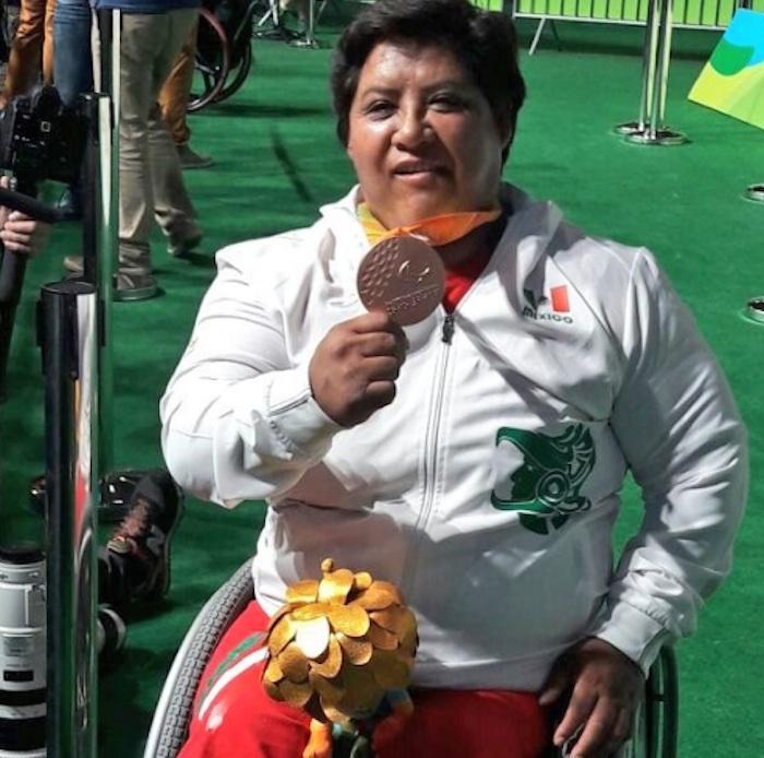 Catalina Díaz Vilchis, medalla de bronce en levantamiento de potencia. Foto: @CONADIS_MX
