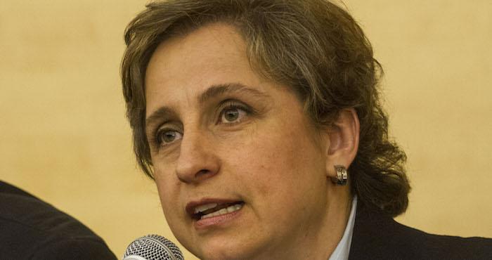 La periodista Carmen Aristegui fue despedida de la emisora el 15 de marzo de 2015. Foto: Cuartoscuro