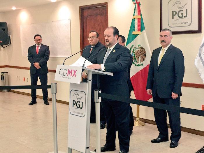 Ríos Garza dando detalles del caso. Foto PGJ CdMx