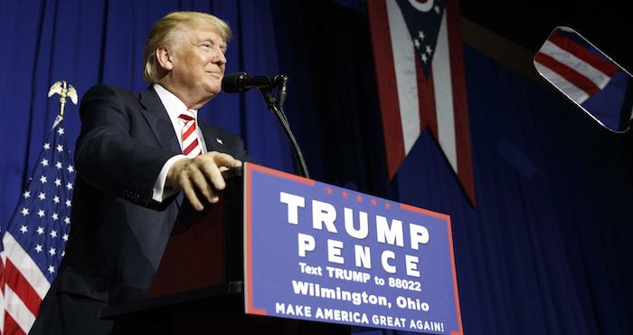 Donald Trump, en un acto de campaña. Foto: AP