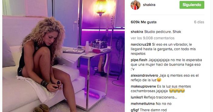 Le llueven críticas a Shakira por foto de sus pies