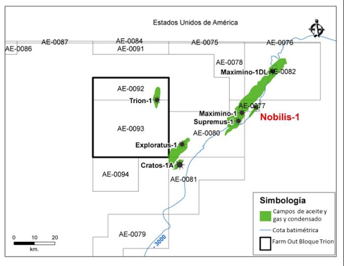 En el Cinturón Plegado Perdido se perforó el pozo Nobilis-1, en donde hallaron dos yacimientos de crudo con densidad mayor a 40 grados API, en el flanco oriental del campo Maximino. Foto: Pemex