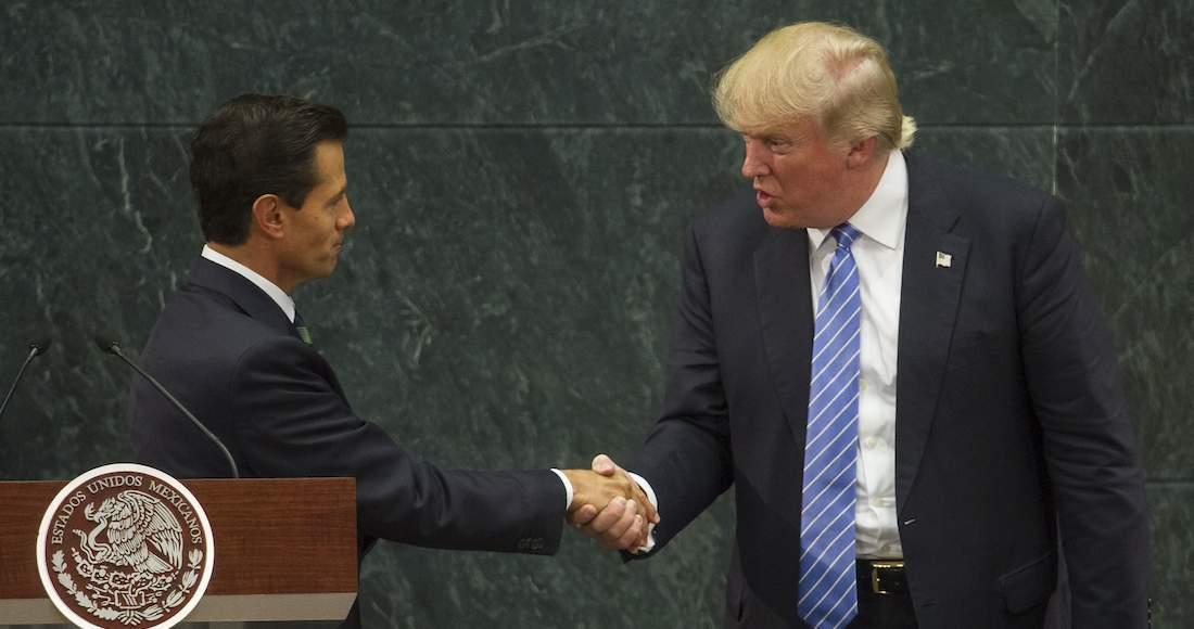 En la Imagen, el Presidente Enrique Peña Nieto y Donald Trump durante el encuentro en la Residencia Oficial de Los Pinos. Foto: Isaac Esquivel, Cuartoscuro.