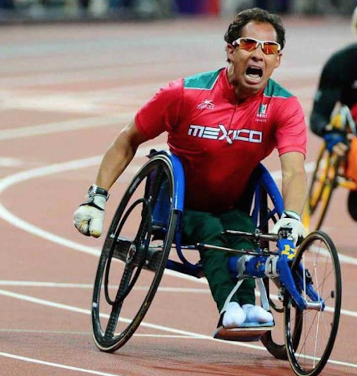 Salvador Hernández Mondragón, medalla de bronce en T52 de 100 metros. Foto: @CONADIS_MX