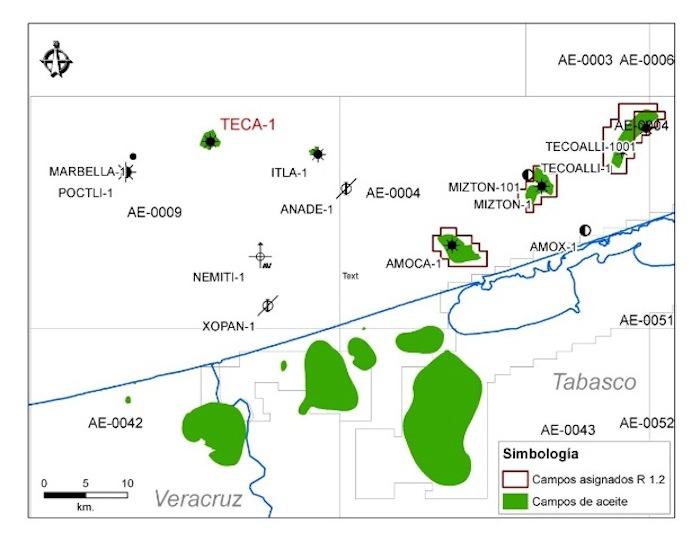 En el pozo Teca-1, encontraron crudo ligero así como gas condensado. Foto: Pemex