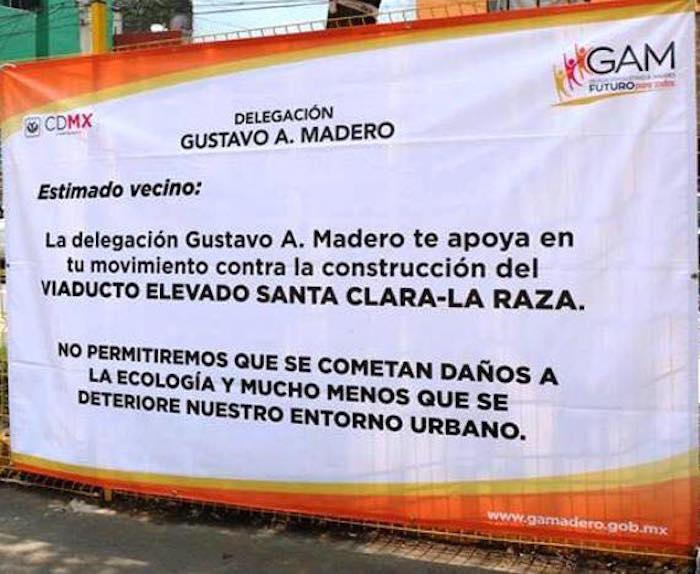 Foto: Facebook No al Viaducto La Raza - Indios Verdes Santa Clara.