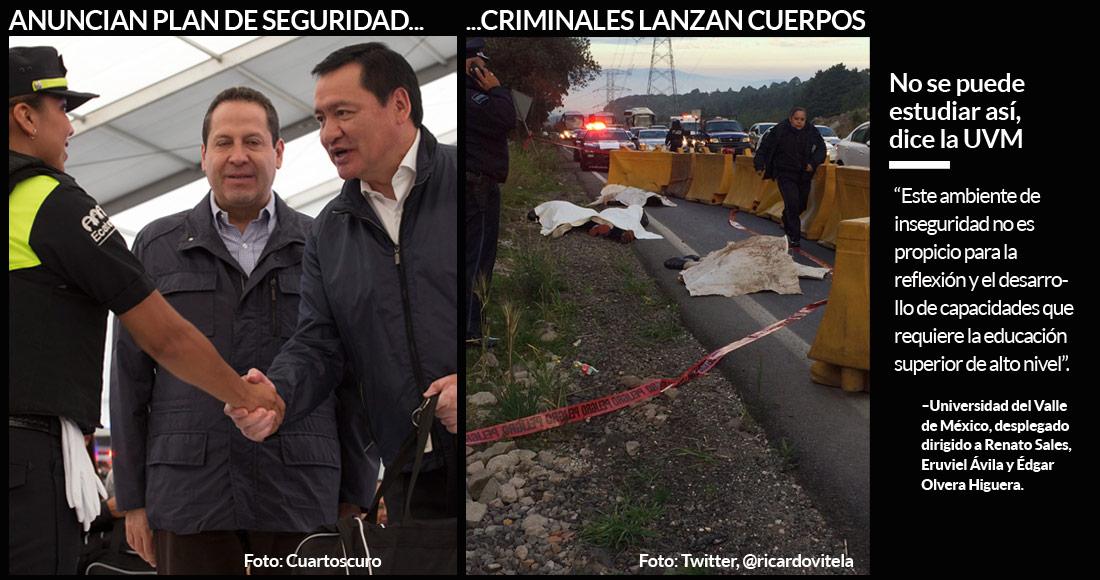 Presuntos asaltantes, muertos de la México-Toluca