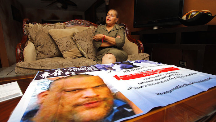 A raíz de la desaparición de Víctor en 2013, Hortensia funda la Asociación Familias Unidas en la Búsqueda y Localización de Personas Desaparecidas, de la que ella es presidenta. Foto: Vanguardia