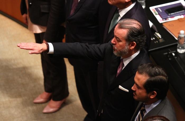 Raúl Cervantes Andrade tomó protesta este miércoles como Procurador General ante el Senado de la República. Foto: Cuartoscuro