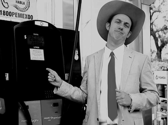 Joe T. Hodo, personaje interpretado por el cineasta Gregory Greg, originario de Nueva York que lleva años viviendo en México. Foto: Cortesía.