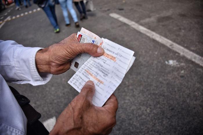 El recibo de un Tránsito en Veracruz. Foto: Yerania Rolón, BlogExpediente