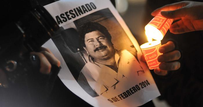 Fotografía de una protesta de periodistas tomaba en 2015 por el fotoperiodista, Ruben Espinosa quien, después fue asesinado en la CdMx. Foto: Cuartoscuro