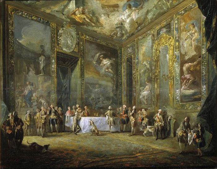 Luis Paret. Carlos III comiendo ante su corte