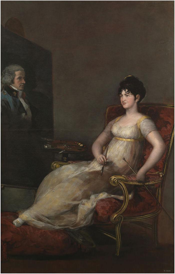 La marquesa de Villafranca pintando a su marido. Francisco de Goya. (1804)