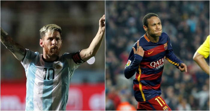 El argentino Leonel Messi y el brasileño Neymar encabezan la lista de candidatos del Premio Puskas al mejor gol del año. Foto: EFE