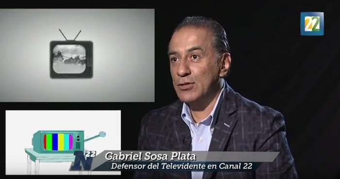 Gabriel Sosa Plata fue nombrado Defensor del Televidente en septiembre. Foto: Youtube