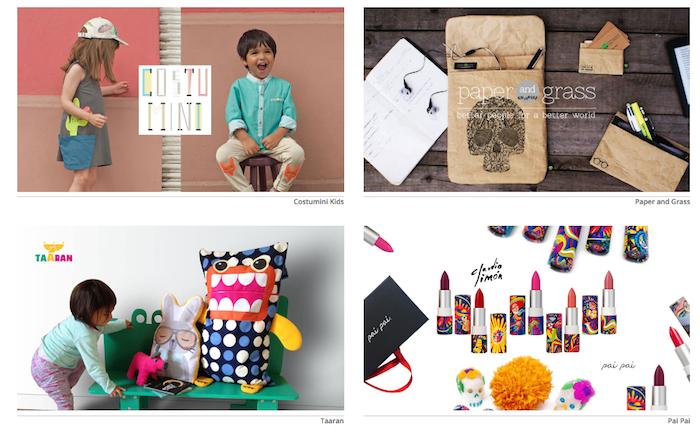 Algunas de las empresas que se pueden encontrar en el sitio. Imagen: disenia.mx