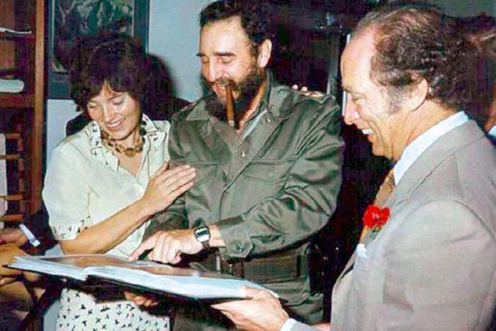 Fidel Castro y Margaret Trudeau / Foto: Especial