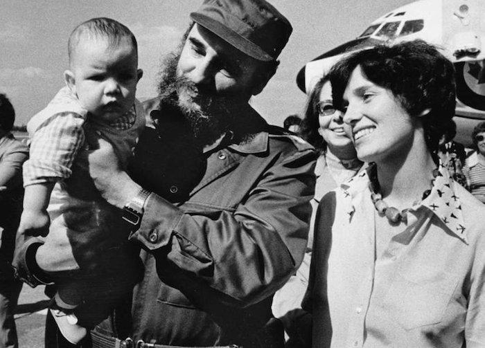 Margaret Trudeau junto a Fidel Castro / Foto: Especial