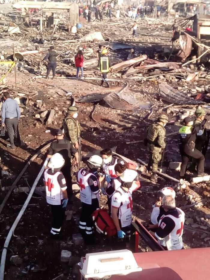 El mercado quedó destruido. Foto: Cruz Roja