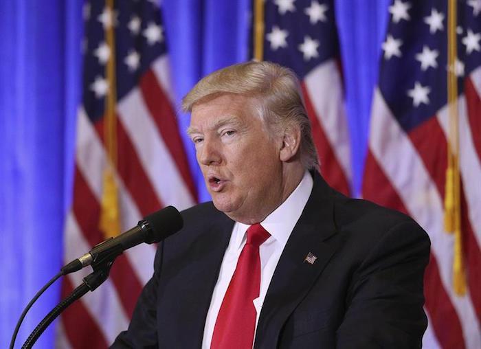 Trump insiste en que México pagará por el muro fronterizo. Foto: EFE