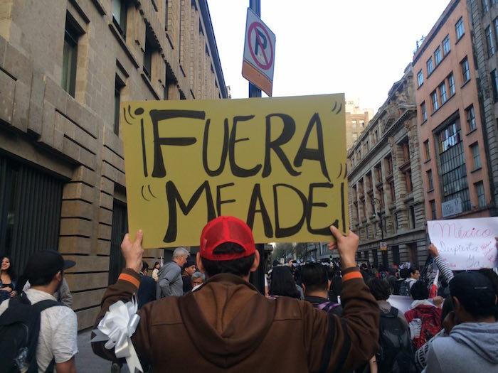 No sólo contra Peña, también contra Meade fueron las protestas. Foto: Daniela Barragán