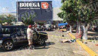 Las seis personas vendían en un tianguis de Zapata, acapulco. Foto: El Sur.