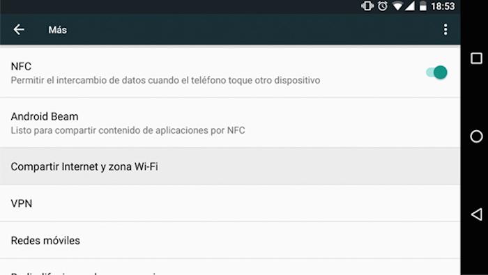 compartir internet por vpn android