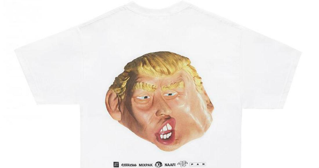 La máscara/playera de Donald Trump por NAAFI. Foto: Vice/Cortesía de los diseñadores