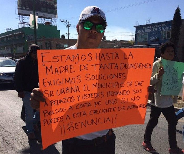 Marcha contra el gasolinazo en el Estado de México. Foto: Daniela Barragán, SinEmbargo