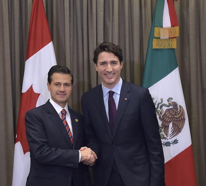 Enrique Peña Nieto, Presidente de México, con Justin Trudeau, Primer Ministro de Canadá. Foto: Cuartoscuro.